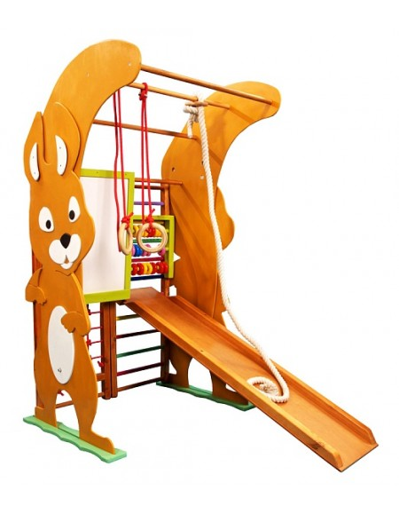 Cпортивный уголок для детей из дерева Белочка