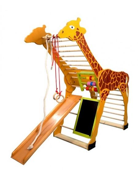 Cпортивный уголок для детей из дерева Жираф