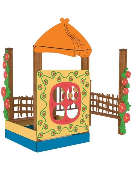 Песочница для детей из дерева  Хатинка-2
