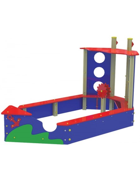 Песочница для детей из дерева  Кораблик