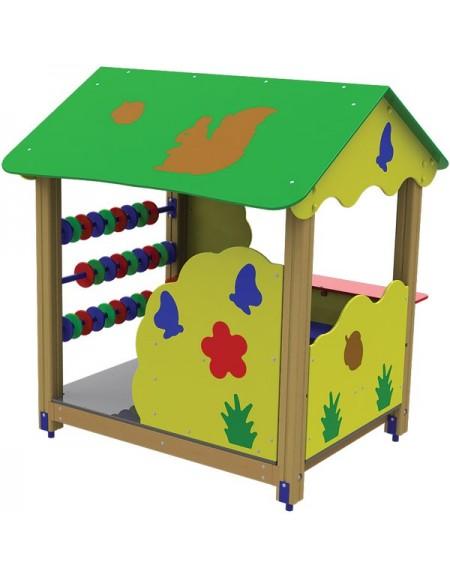 Детский деревянный домик ТЕ319