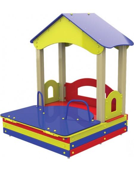 Детский деревянный домик ТЕ320