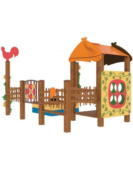 Песочница для детей из дерева  Домик