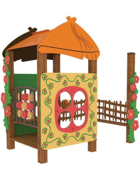 Песочница для детей из дерева  Хатинка