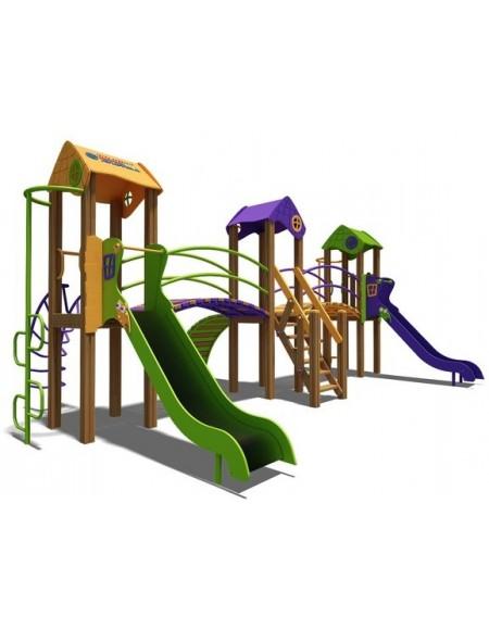Игровой комплекс для детей  оранжево-фиолетово-зеленый Карапуз-NEW  T803NEW