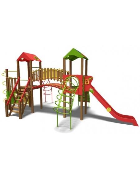 Игровой комплекс для детей  зелено-фиолетово-оранжевый Теремок-NEW  T902NEW