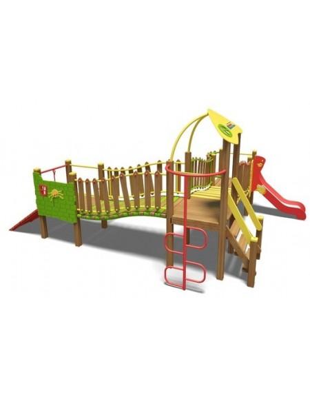 Игровой комплекс красно-зелено-желтый Волна-NEW TЕ812 NEW