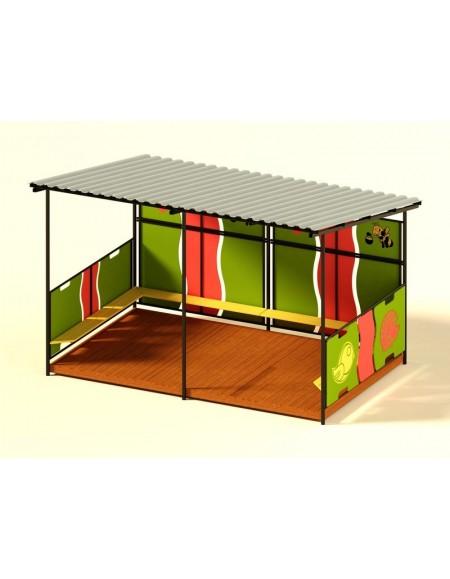 Детский деревянный домик без пола УТ502.1