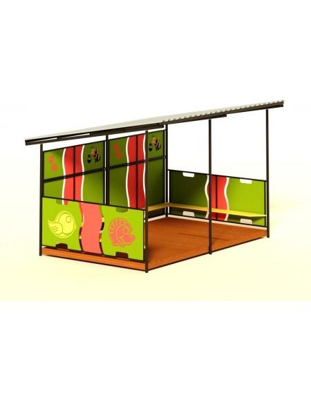 Детский деревянный домик УТ502
