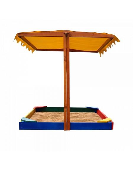 Детская песочница из дерева  №23