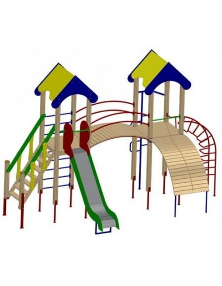 Детский игровой комплекс двубашенный (DIO702)