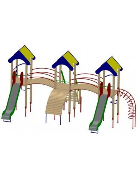 Детский игровой комплекс трехбашенный (DIO703)