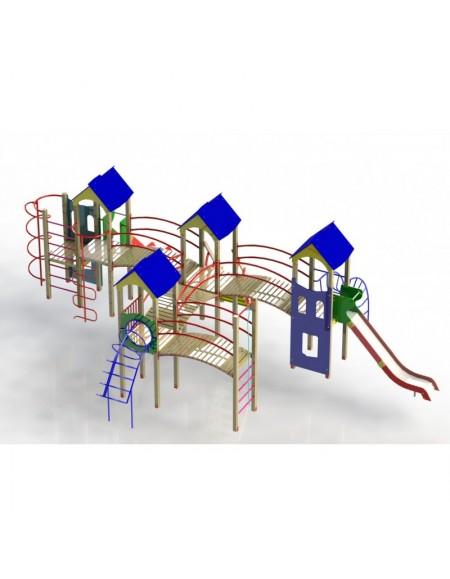 Детский игровой комплекс Крепость друзей, поддон 1,2м (DIO718.1)