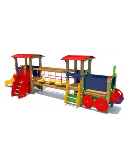 Детский игровой комплекс Паровозик с вагоном (DIO405)