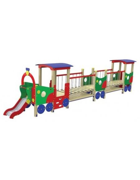 Детский игровой комплекс Паровозик с вагоном Лето T503М