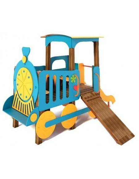 Детский игровой комплекс Паровозик с горкой Счастье T512