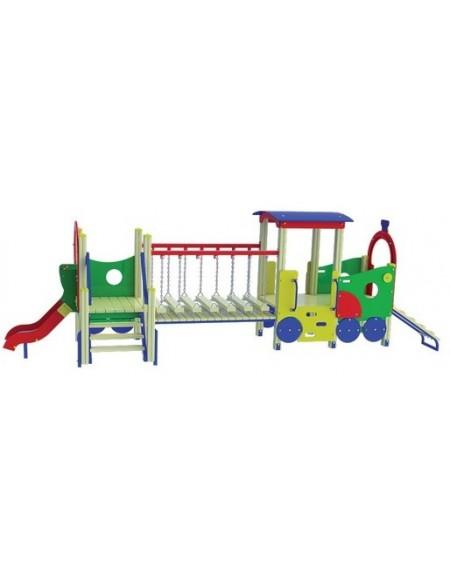 Детский игровой комплекс Паровозик с вагоном TE503