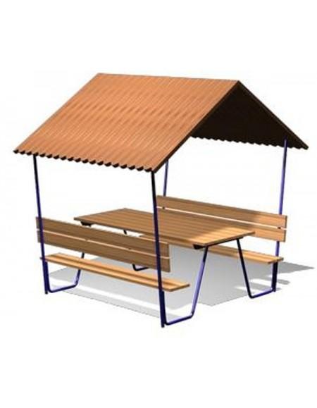 Навес со столом и скамейками (DIO-228)