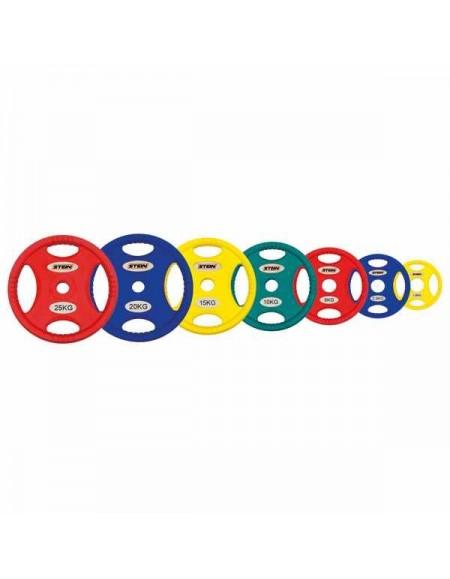 Диски для штанги, гантелей Stein TPU Color 3-Hole Plate