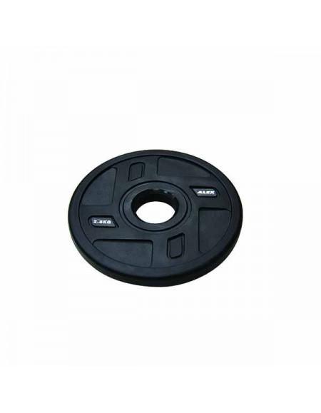 Диски для штанги, гантелей Alex 4 Holes TPU Olympic Plate 2,5 кг