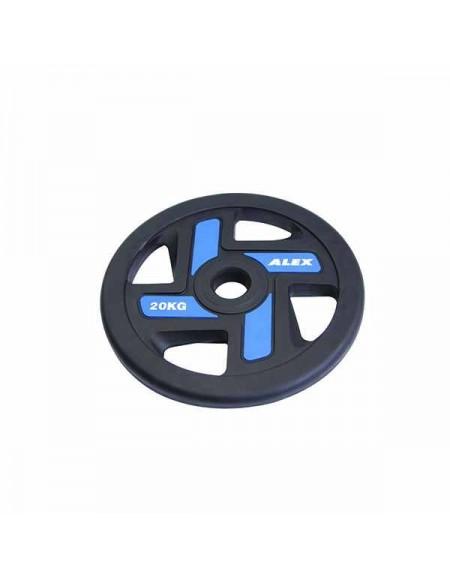 Диски для штанги, гантелей Alex 4 Holes 20 кг TPU Olympic Plate