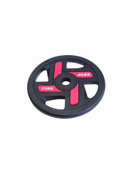 Диски для штанги, гантелей Alex 4 Holes 25 кг TPU Olympic Plate