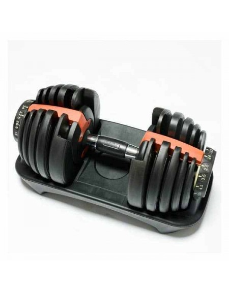 Гантели наборные 24 кг FitLogic Adjustable dumbbell on the stand