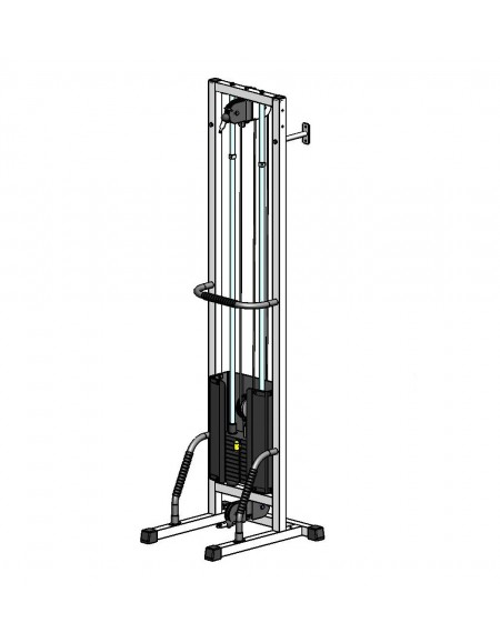Многофункциональный тренажер для спины Блочная рамка одинарная на 100 кг, крепление к стене/полу (TB001-100)
