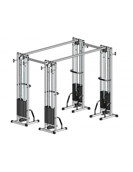 Многофункциональный тренажер для спины Блочная рамка двойная спаренная на 90 кг (TB004-90)