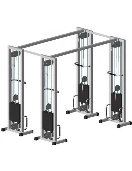 Многофункциональный тренажер для спины Блочная рамка двойная на 105 кг (TB103.1-105)