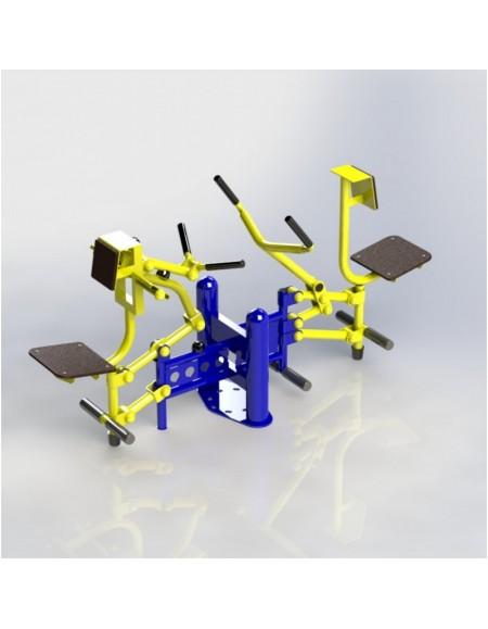 Уличный тренажер Бицепс машина и рычажная тяга (SG124)